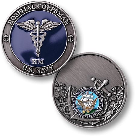 Hospital Corpsman Navy Rate Coin $12.00