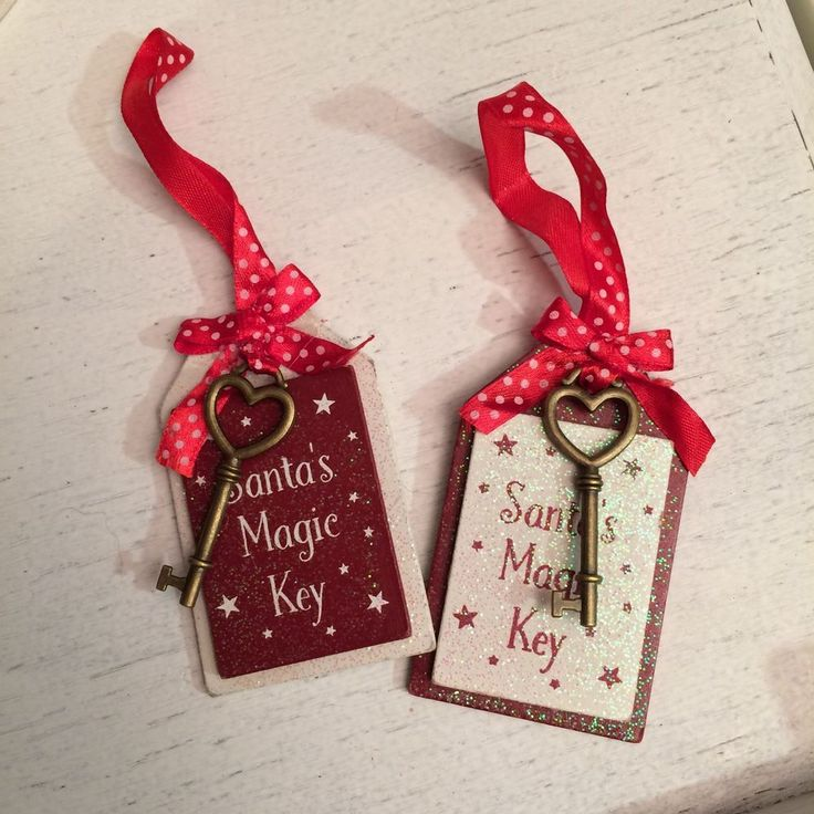 Santas magic key. Father christmas. CHRISTMAS