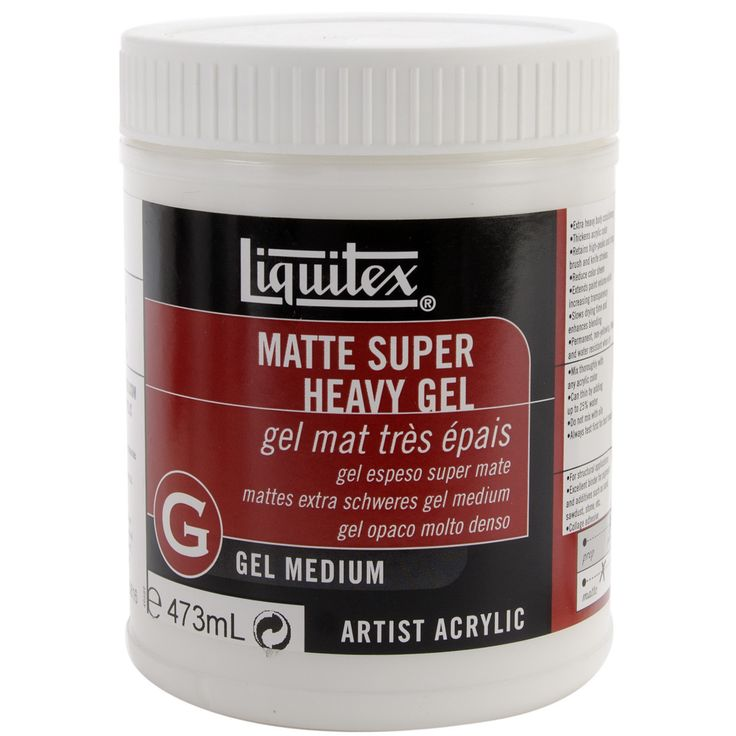 Liquitex Super Heavy Matte Gel Medium - 16 Ounces