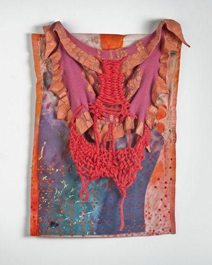 Erin E. Castellan Title: Corporeal, 2013 Acrylic/latex paint, thread. yarn, fabric