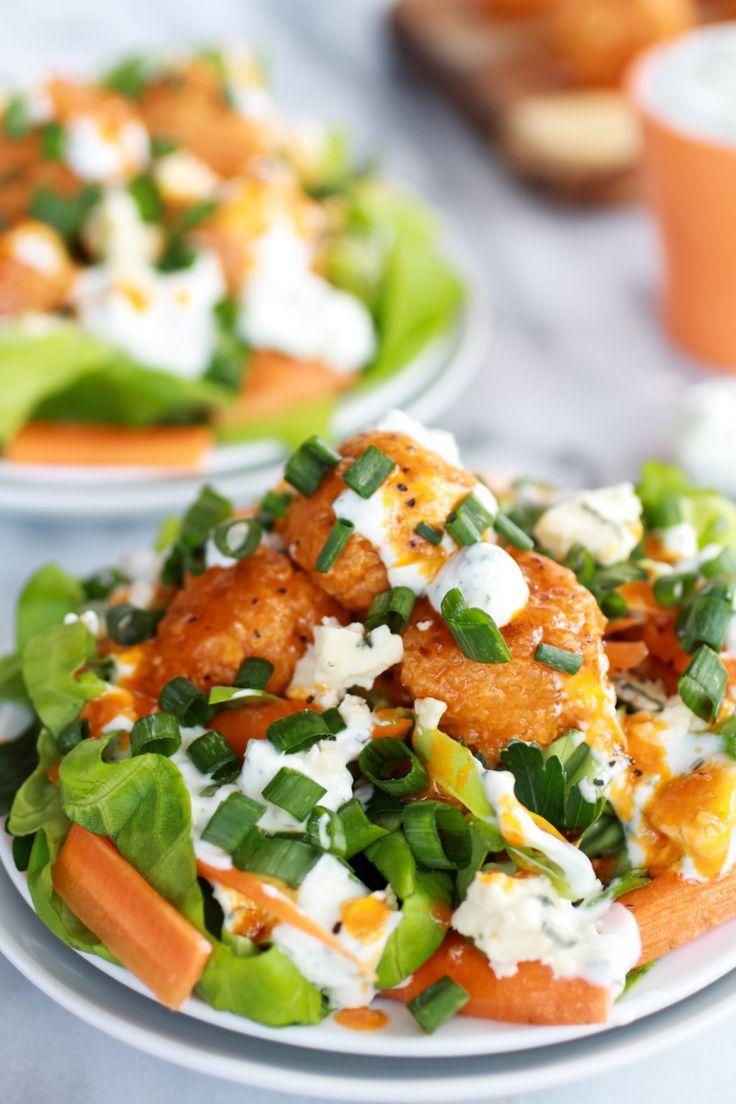 Crispy Buffalo Quinoa Bites Salad | http://www.halfbakedharvest.com/