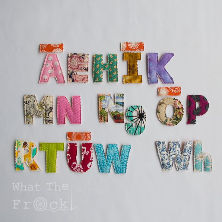 Fabric Alphabet Letters, New Zealand Te Reo Maori, Upper case, Macrons, by WhatTheFrockNZ on Etsy