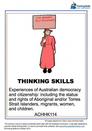 Teaching Resources: Experiences of Australian Democracy And Citizenship – Women ACHHK114