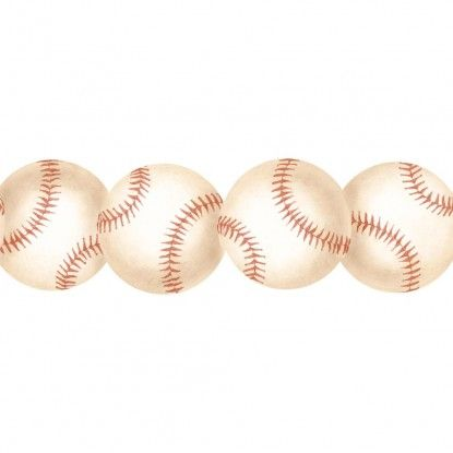 The Realistic Appearance Of Baseball Border Makes It A Great Decor Choice For Bedroom