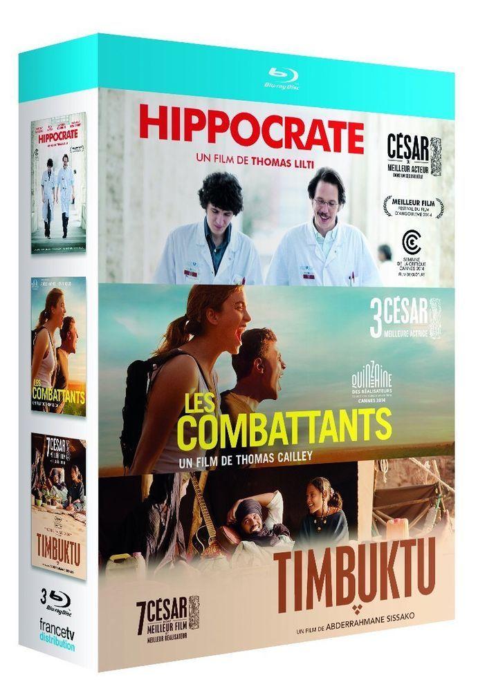 Coffret TIMBUKTU - LES COMBATTANTS - HIPPOCRATE - BLU-RAY NEUF