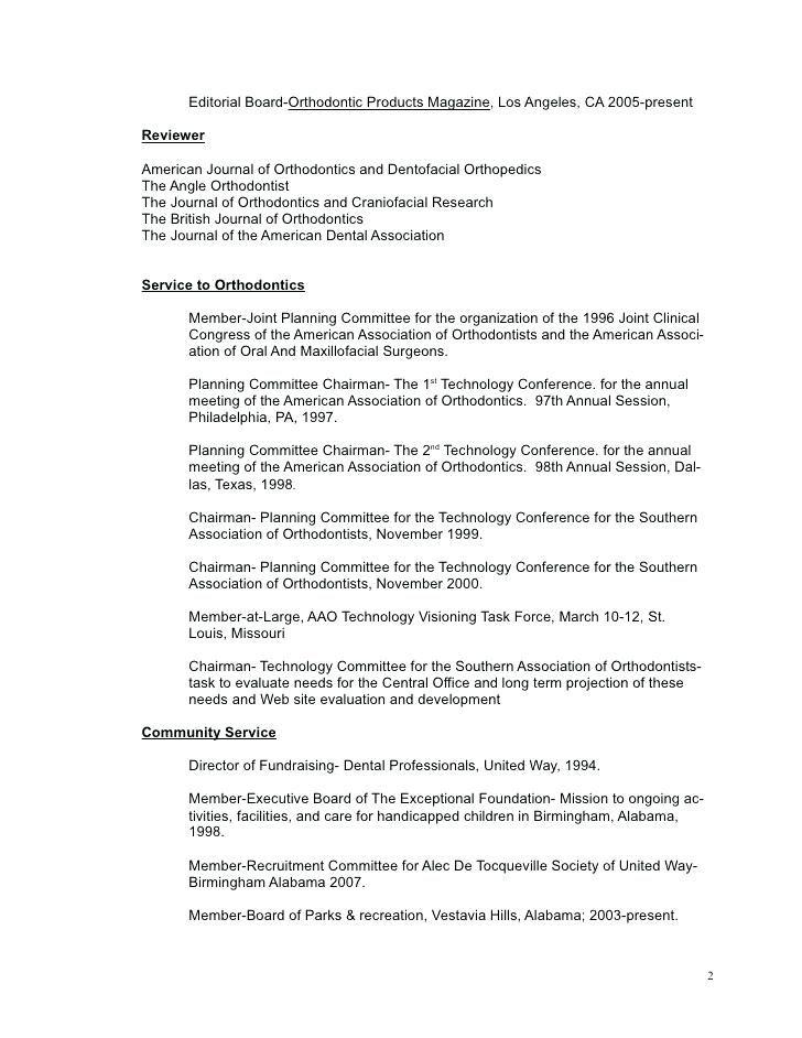 Orthodontist Resume Orthodontist Resume Resume