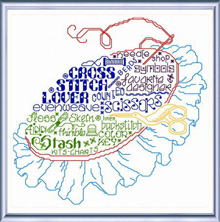 Lets Cross Stitch More - 'Words' cross stitch pattern designed by Ursula Michael.