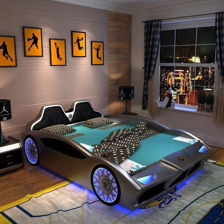 Bed Set Red in 2020 Kids car bed, Cool