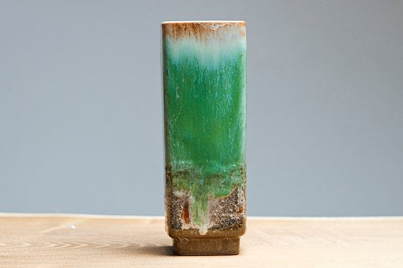 Cubic Fat Lava vase by Strehla East Germany by Eclectivist on Etsy, $34.00