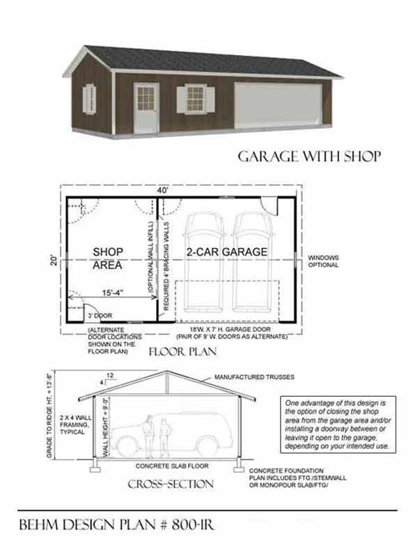 7 best shop garage plans images on pinterest car garage for Garage sn autos 42