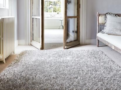 Celebration Silver shaggy rug.... this rug is lush but at £200 out of my price range :(