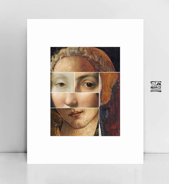 Famous paintings Collage, Painting portraits, Famous painting portraits, Art lover, Large wall art, Paint lover gift, Art print, Printable