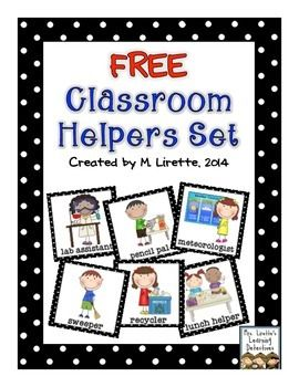 Here are 40 job cards to help you organize your student helpers/responsibility chart in your classroom.*new cards added July 14, 2015Thanks for downloading! :)Mrs. Lirette's Learning Detectives