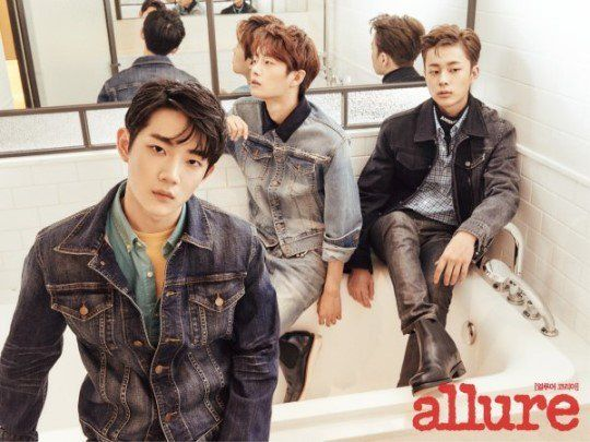 Ahn Hyung Seop, Kim Yong Guk, Yoo Sun Ho and more former 'Produce 101' trainees 'Allure' fans in new pictorial | allkpop.com