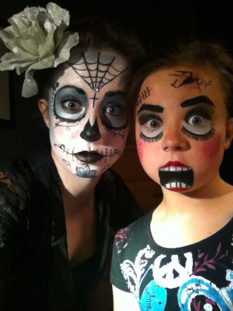 Maquillage halloween squelette fille id es de conception sont int ressants - Maquillage squelette mexicain ...