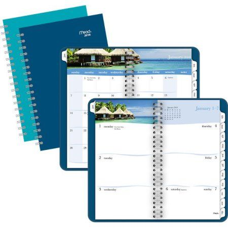 Buy Mead Tropical Weekly-Monthly Planner - Weekly - Monthly Planners at Walmart.com