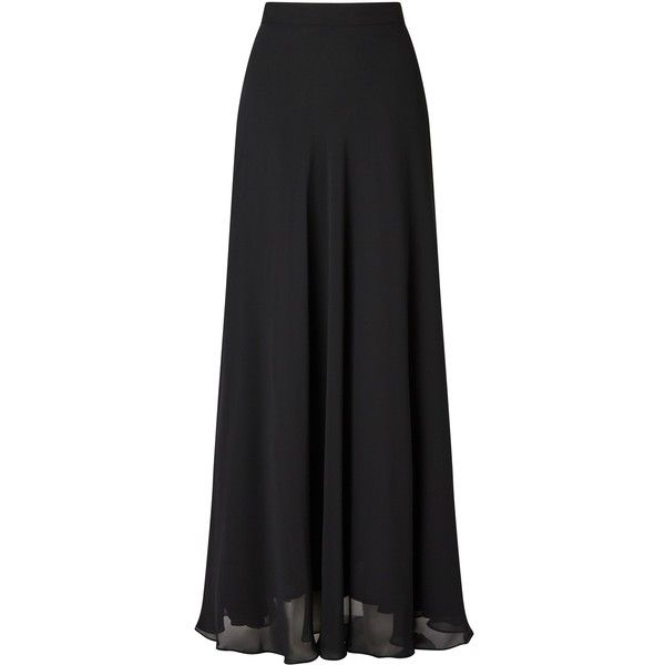 Ariella Ariella Danny Chiffon Maxi Skirt ($135) ❤ liked on Polyvore featuring skirts, women skirts, full skirts, ankle length skirts, maxi skirts, floor length chiffon skirt and long full skirts
