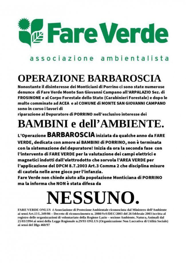 Fare Verde Monte San Giovanni Campano è diventata un'arma letale per chi ha sconvolto il territorio con azioni imperdonabili e in questo caso è per la depur...