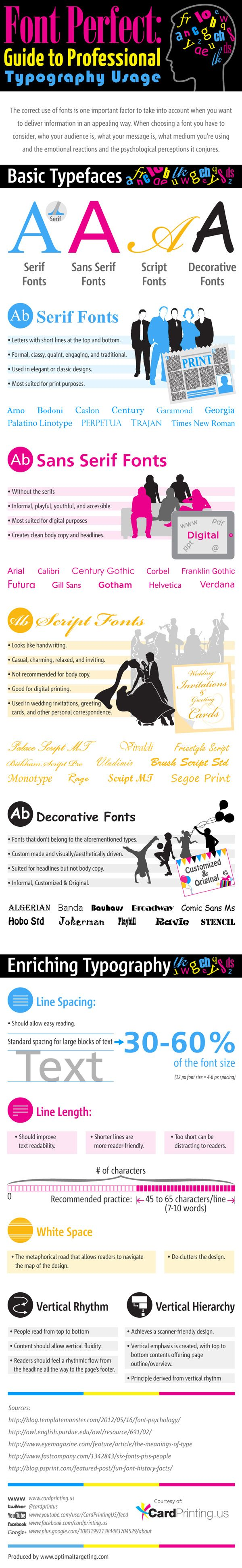 17 best ideas about professional fonts font 9 good typography usage tips and examples
