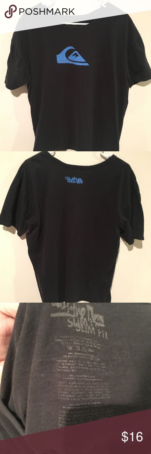Black and blue quick silver t shirt Black and blue quick silver t shirt! Barely ever worn and in great condition!! quick silver Shirts Tees - Short Sleeve