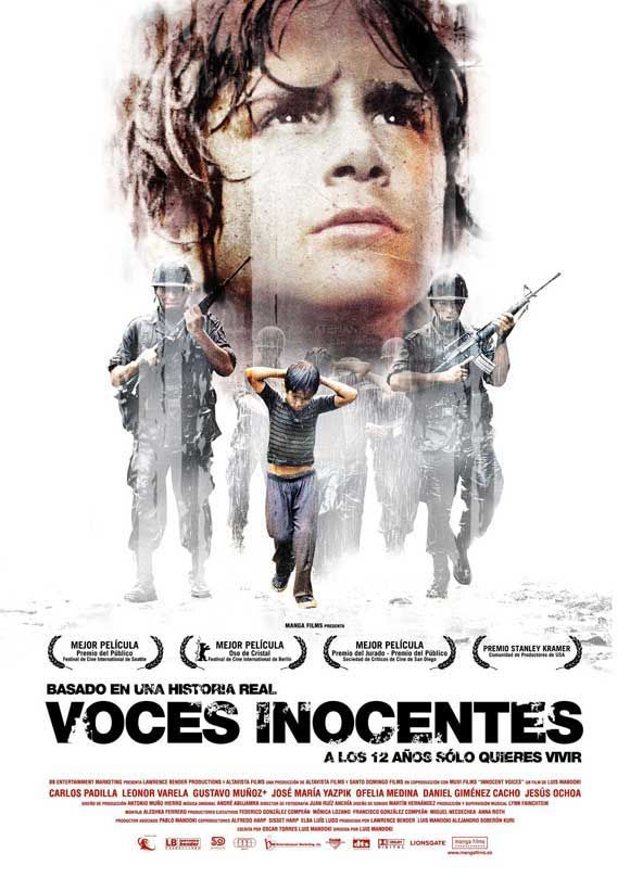 Innocent Voices (2004) A young boy, in an effort to have a normal childhood in 1980's El Salvador, is caught up in a dramatic fight for his life as he desperately tries to avoid the war which is raging all around him.