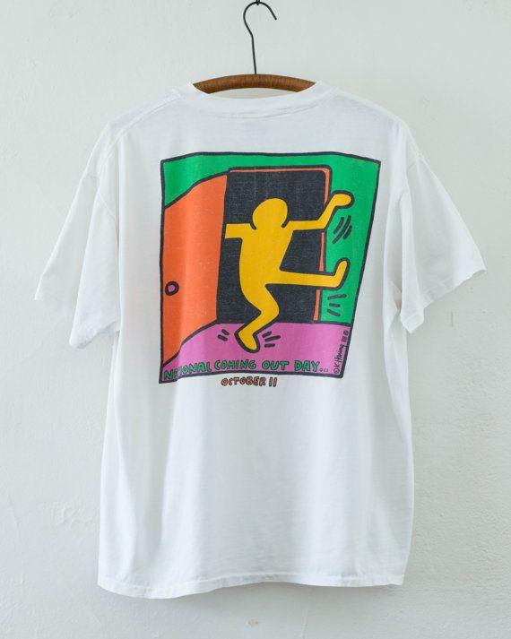 Keith Haring tshirt  L by BabyStrangeVintage on Etsy