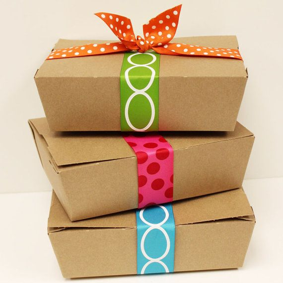 Kraft Lunch Box 8 Paper Food Boxes Party Picnic by ThePartyFairy