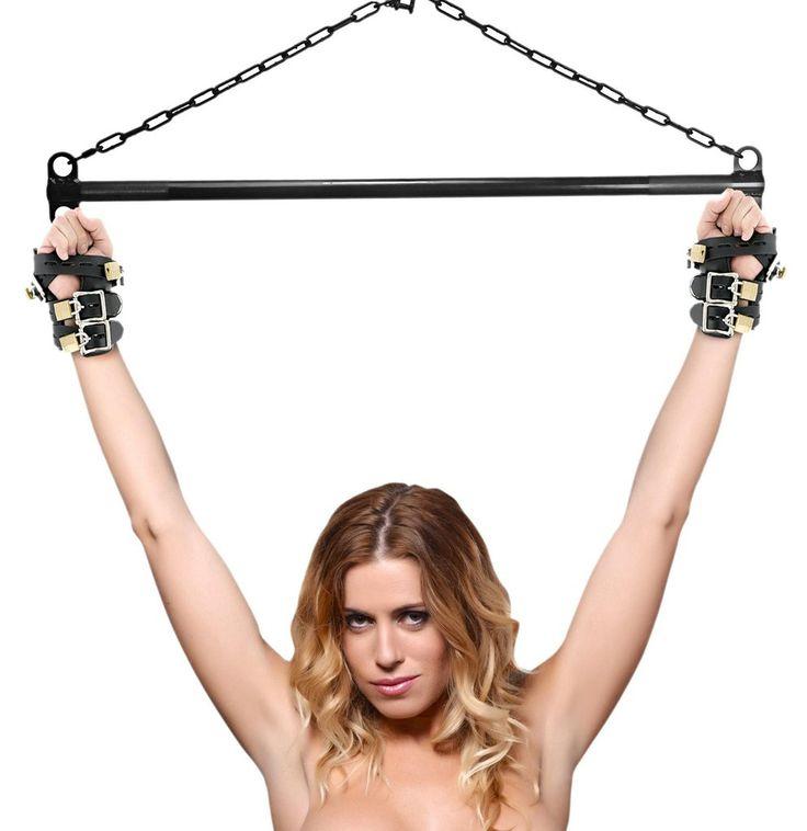 Spreader Bar Leather Suspension Lockable Cuffs