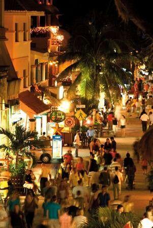 Avenue 5 in Playa Del Carmen Mexico...the Venice Beach of Mexico