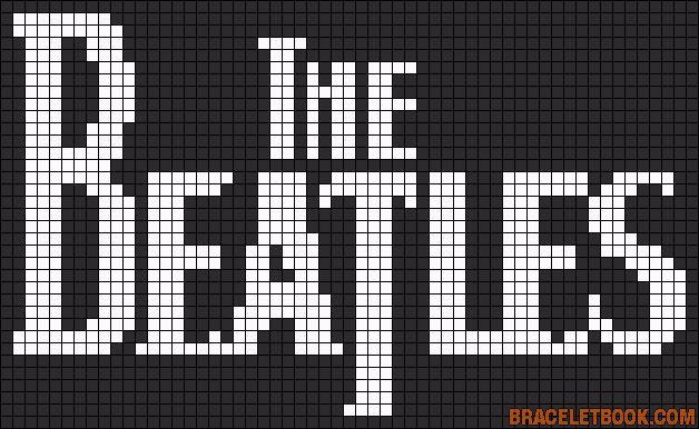 Free Beatles logo free cross stitch pattern #stitching #people