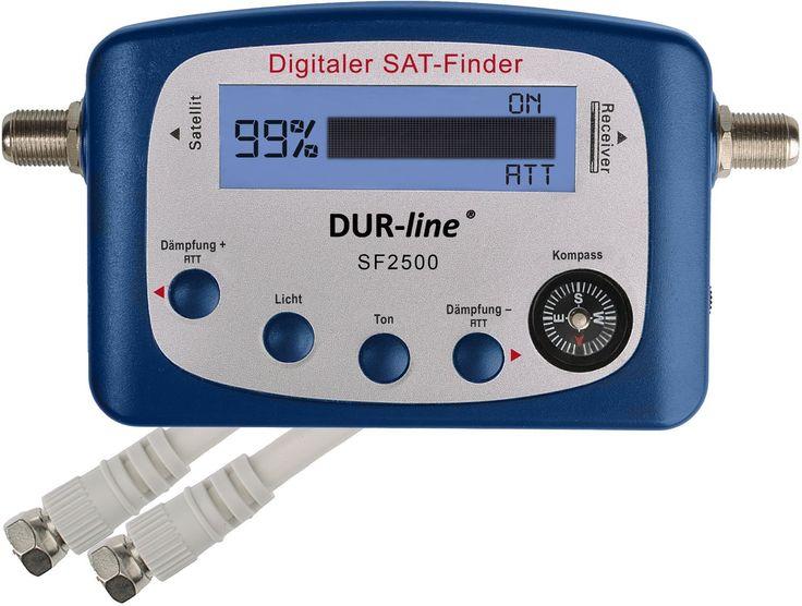 Satelliten-Finder mit digitaler LCD-Anzeige inklusive Zwischenkabel und Kompass  Zum perfekten Einstellen Ihrer Satelliten-Antenne Wird zwischen LNB und Receiver geschaltet Beleuchtetes LC-Display...