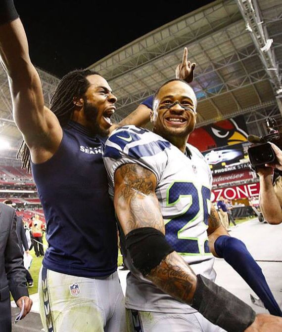 Good call, bad call...we still love our Seahawks! (Richard Sherman and Earl Thomas)