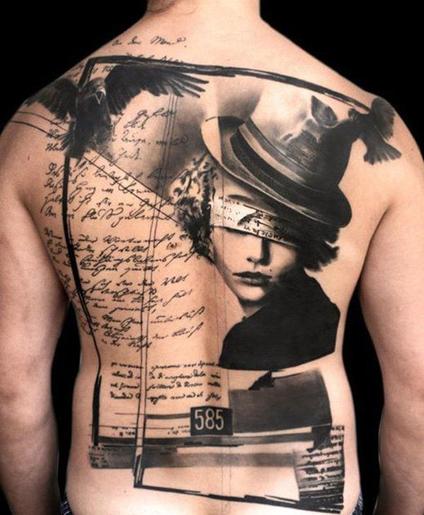 Tattoo on full back - Back might be one of the best choices for tattooing. A lot of people start their first tattoo on the back. It's more flexible to many tattoo patterns as the back is the largest area of canvas on the body.