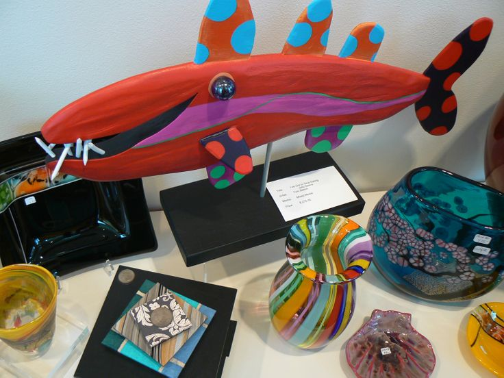 Amazing Fish ...by Tom Beech, Painted wood sculpture