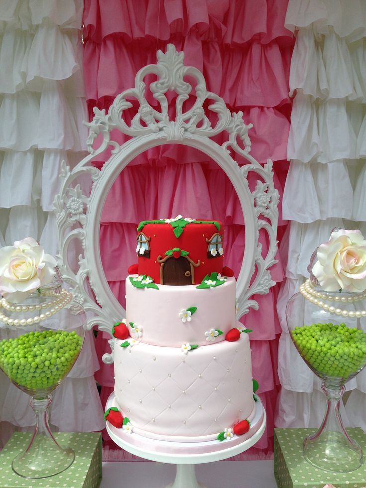 11 best Strawberry shortcake shabby chic centerpiece images on
