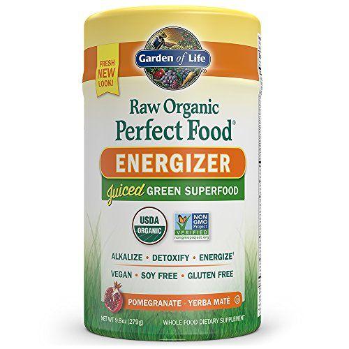 Garden of Life Vegan Green Superfood Powder - Raw Organic Perfect Whole Food Energizer Dietary Supplement 9.8oz (279g) Powder