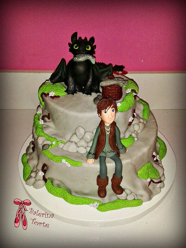 How to Train Your Dragon Cake - Kako da dresirate svog zmaja torta by Balerina Torte Jagodina