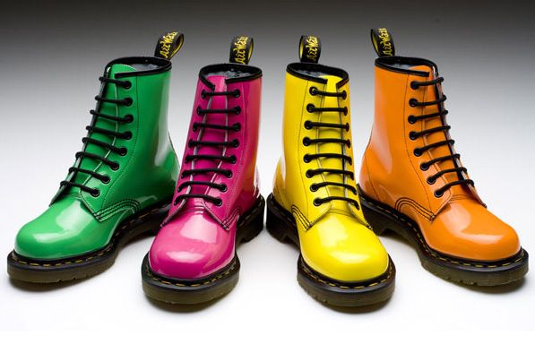 Chunky shoes were huge! Lets style some of the looks with Dr. Martens! I would use one of these colorful shoes for the less colorful outfits, like ones that were mainly black or gray. Just saying that the pink Dr. would look adorable Zeena dress and the yellow one with the Gillian Dress.