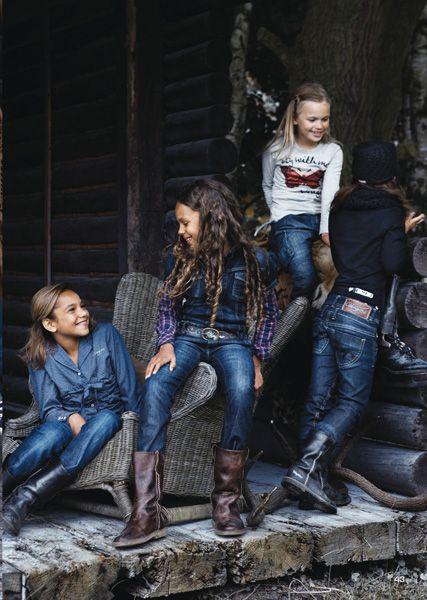 Vingino Jeans voor jongens en meisjes - Melkofpuur