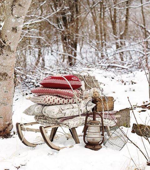 Różana Ławeczka / winter wonderland