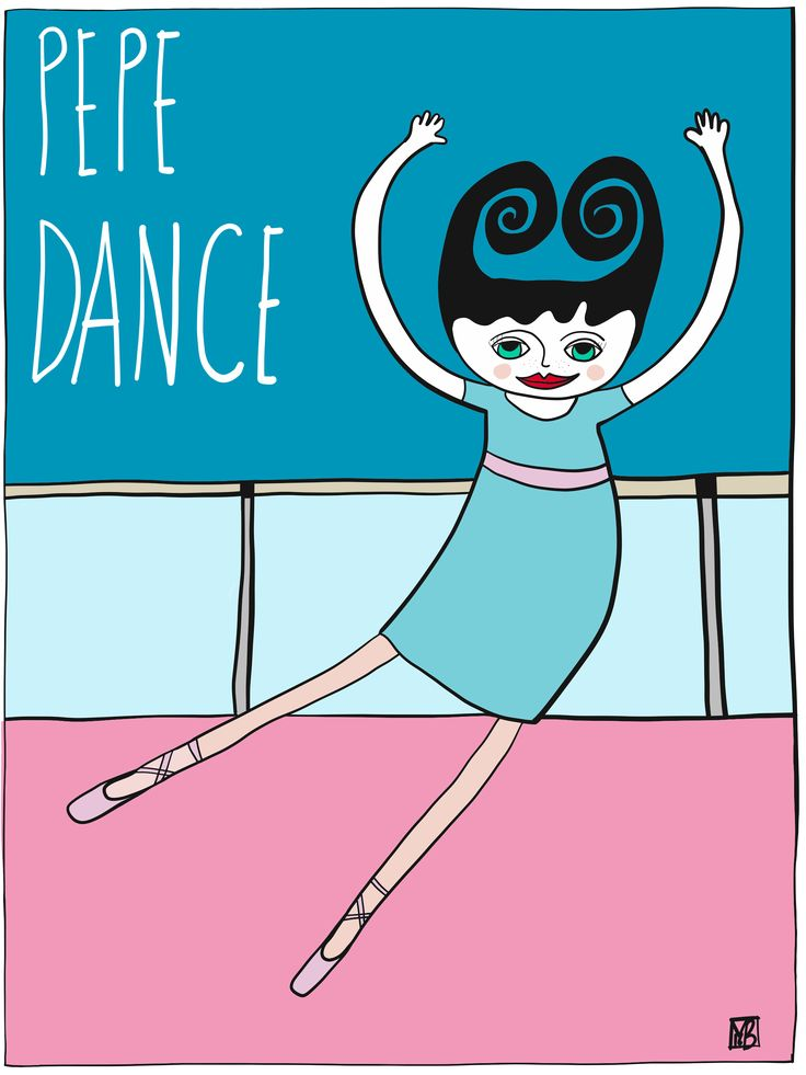 #iIllustration of Pepe #dance by Monica Brini