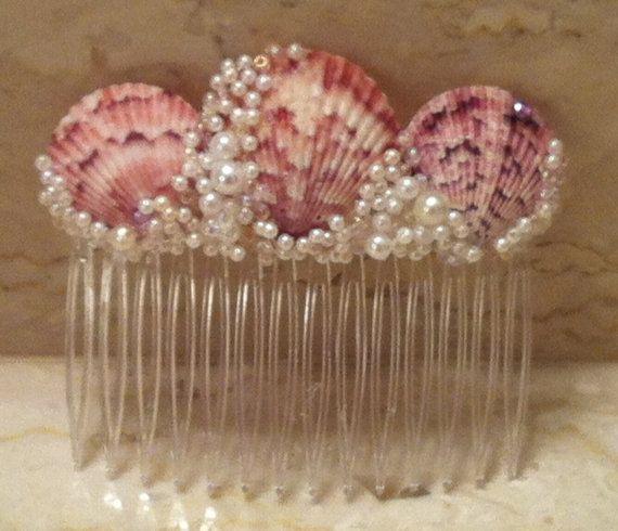 Mermaid Sea Shell Comb via Etsy More