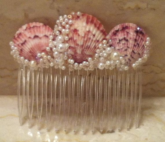 Mermaid Sea Shell Comb via Etsy