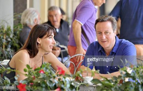 05-22 Britain's Prime Minister David Cameron and his wife... #montevarchi: 05-22 Britain's Prime Minister David Cameron and… #montevarchi
