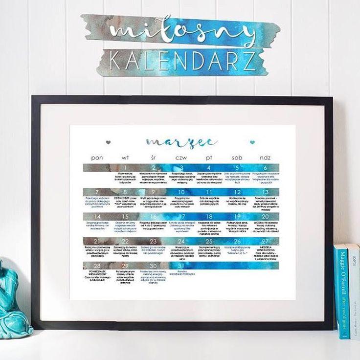 Do pobrania za free - miłosny kalendarz do druku