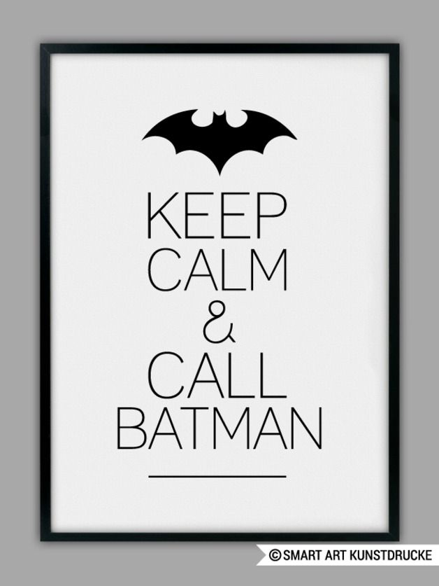 "Typo Poster ""Batman"" / art print typo ""batman"" by Smart-Art-Kunstdrucke via DaWanda.com"