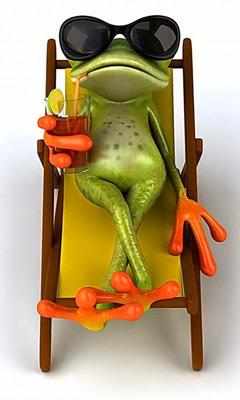 Frog. Hands and Feet are always the first to go