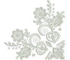 Ľudová výšivka Vajnory kožuch, šatka, rozmer 20x20 cm