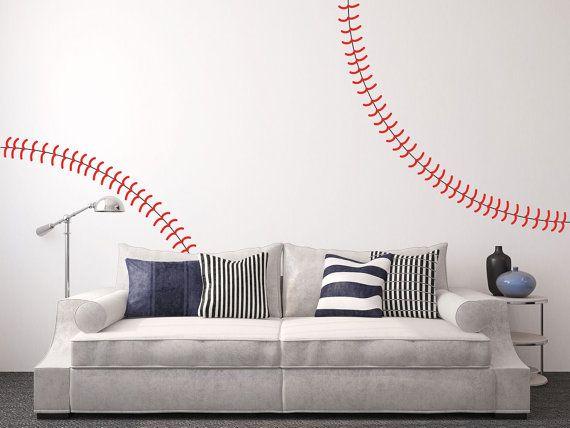 Mur complet géant Baseball points sticker mural par jennibythesea