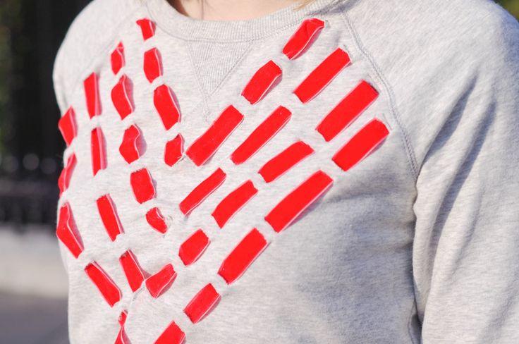 Le DIY du col de sweat customisé Les DIY Frou-Frou x Atelier Svila : #3 le col de sweat customisé de Mélanie